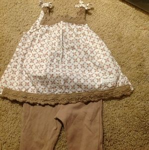 6-9 o baby girl CK outfit